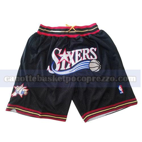 pantaloncini philadelphia 76ers uomo just don nero