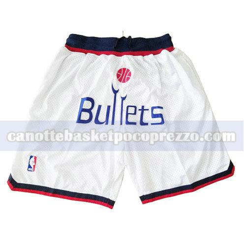 pantaloncini washington wizards uomo just don bianco
